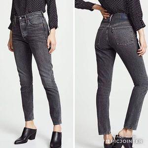 Levi's 501 Black Skinny Jeans
